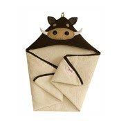 Ręcznik dziecięcy z kapturem 3 sprouts guziec - małe zdjęcie
