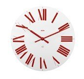 Zegar ścienny Firenze biało-czerwony - małe zdjęcie