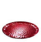 Taca do serwowania Joy n.3 czerwona emalia - małe zdjęcie