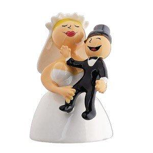 Figurka porcelanowa dekoracja tortu weselnego Abbracciami amore mio