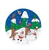 Talerz do serwowania ciast Happy Snowtime