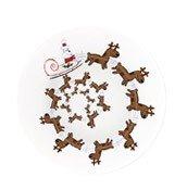 Talerz do serwowania ciast Christmas Spiral