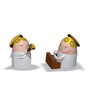Porcelanowe figurki Angels Band trąbka i pianino