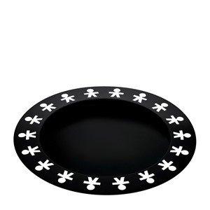 Taca okrągła Girotondo Achromatics czarna
