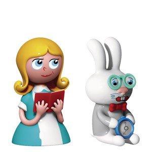Porcelanowe figurki Alice & The White Rabbit