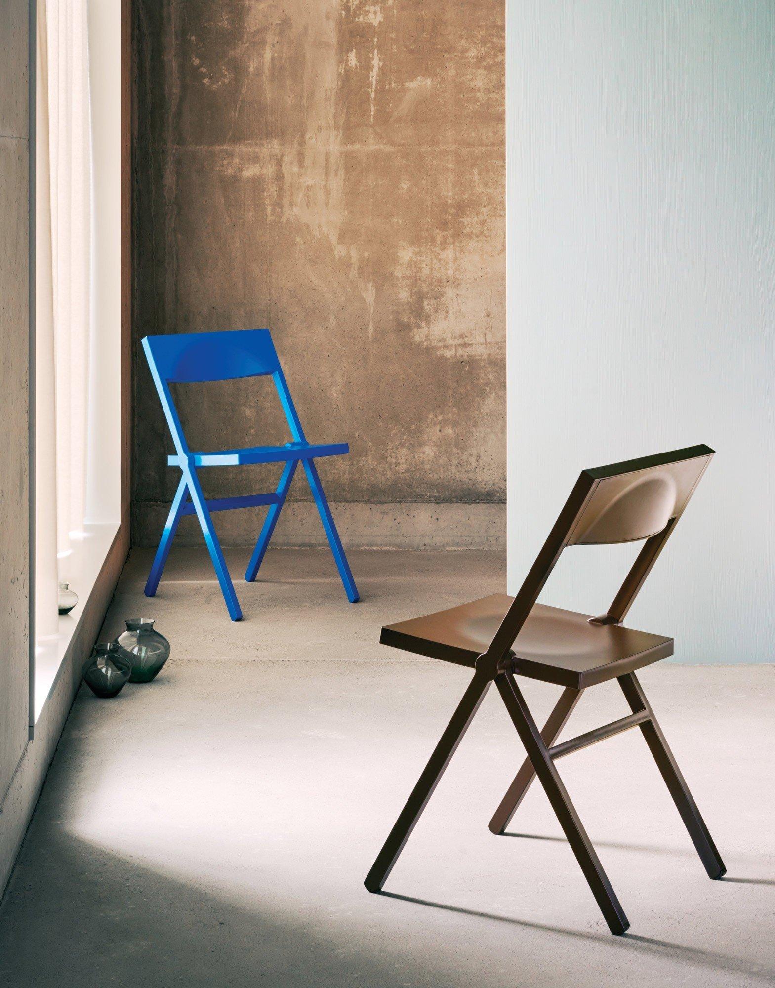 Krzesło składane Alessi Piana, czarne