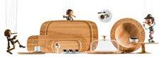 Taca do serwowania drewniana Dressed - zdjęcie 2