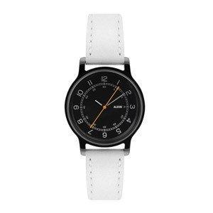 Zegarek l'orologio damski ze skórzanym paskiem i czarną tarczą