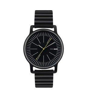 Zegarek l'orologio męski ze stalową bransoletą czarny