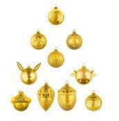Bombki Palle Presepe 10 szt. złote - zdjęcie 1