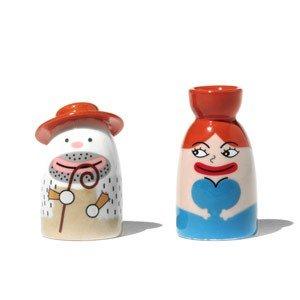 Dwie porcelanowe figurki Salvatore i Signora Acqua