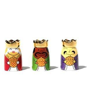 Trzy porcelanowe figurki Re Magi