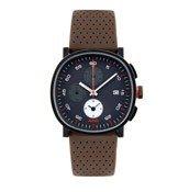 Zegarek męski Tic15 skórzany pasek brąz chronograf