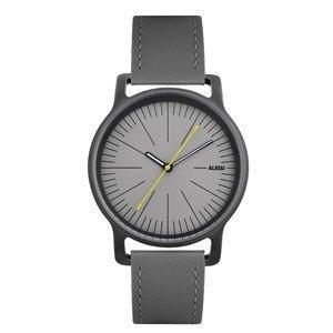 Zegarek l'orologio męski na skórzanym pasku szary