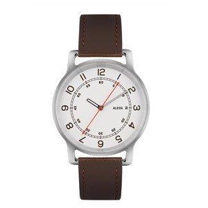 Zegarek l'orologio męski na skórzanym pasku brązowy