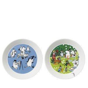 Talerz Muminki 2 szt. zestaw kolekcjonerski Painting Moomin, Tove 100
