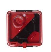 Pude�ko na lunch Box Appetit czerwono-czarne z czerwonymi akcesoriami - ma�e zdj�cie