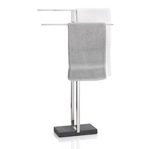 Wieszak na ręczniki Menoto stal polerowana
