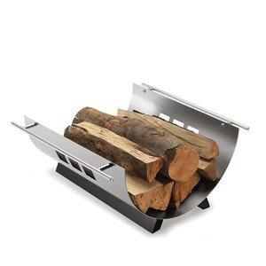 Pojemnik na drewno Chimo z perforowaną osłoną