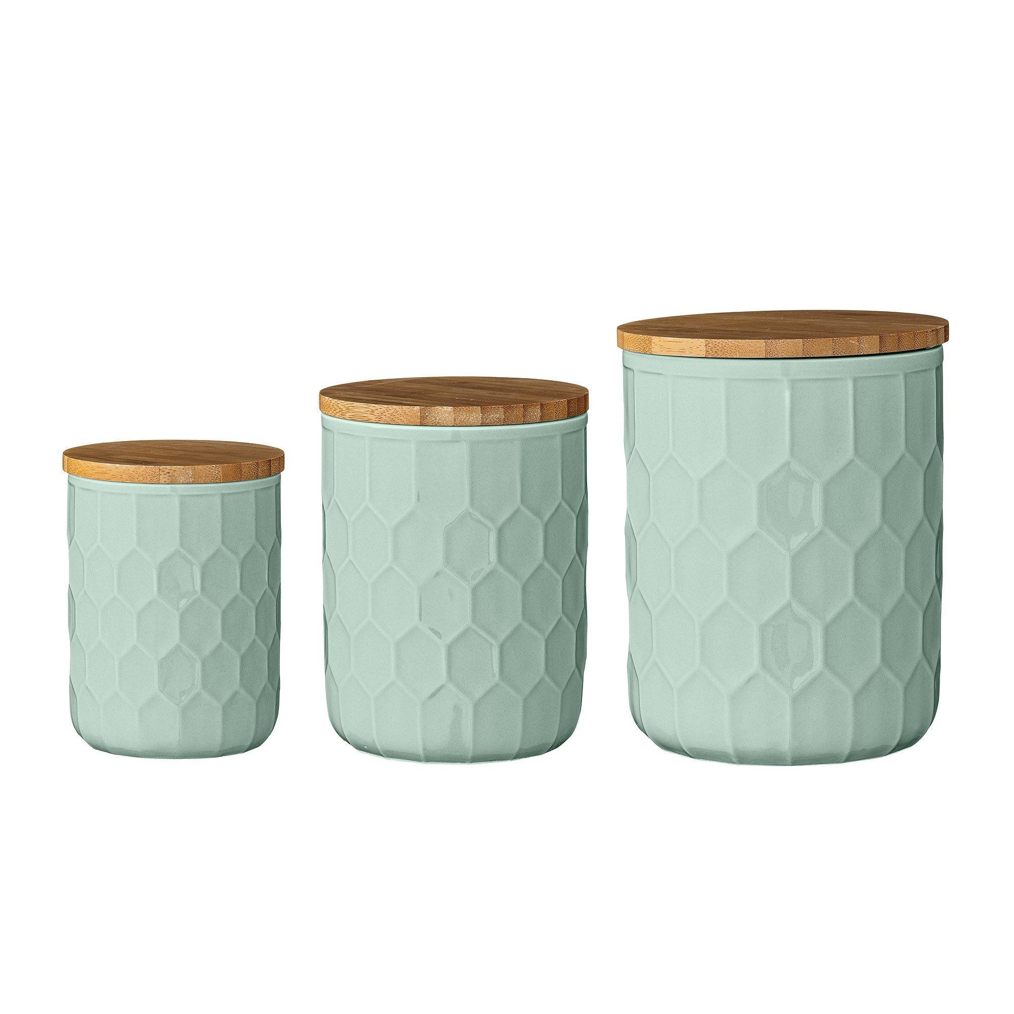 pojemniki kuchenne bloomingville 3 szt niskie bloomingville. Black Bedroom Furniture Sets. Home Design Ideas
