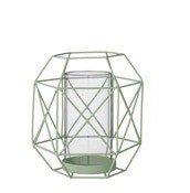 Lampion Graphic zielony 18 cm - małe zdjęcie