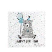 Serwetki Happy Birthday Bear