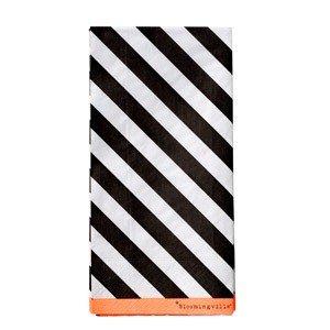 Serwetki Diagonal Stripes czarne 16 szt.