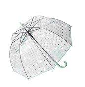 Parasolka transparentna Bloomingville miętowa groszki - małe zdjęcie