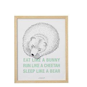 Dekoracja ścienna Eat Like a Bunny