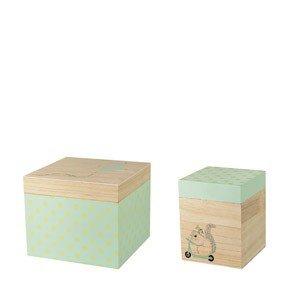 Pudełka do przechowywania drewniane Mini Bloomingville 2 szt.