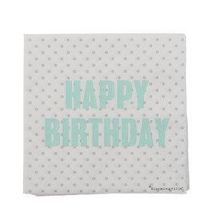Serwetki Happy Birthday grochy