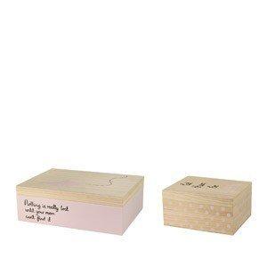 Pudełka do przechowywania Mini Bloomingville płaskie 2 szt.