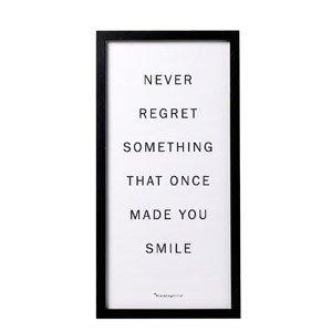 Plakat Never regret