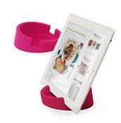 Podstawka kuchenna pod tablet różowa - małe zdjęcie