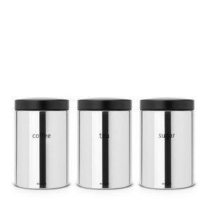 Komplet 3 pojemników kuchennych z oznaczeniami Brabantia 1,4l