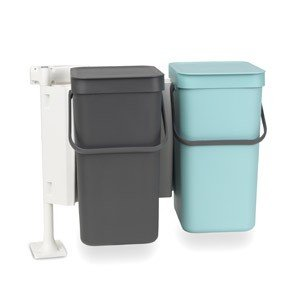 Kosz podwójny do segregowania odpadów szafkowy Sort & Go