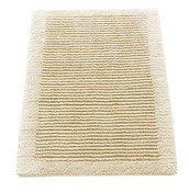 Dywanik łazienkowy Cawo ręcznie tkany 100 x 60 cm kremowy - małe zdjęcie