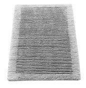 Dywanik łazienkowy Cawo ręcznie tkany 60 x 60 cm szary - małe zdjęcie