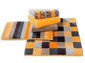Ręcznik 50x30 cm Modena kwadraty odcienie żółci - małe zdjęcie