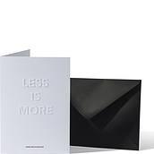 Kartka z kopertą Architects Quotes Less is More