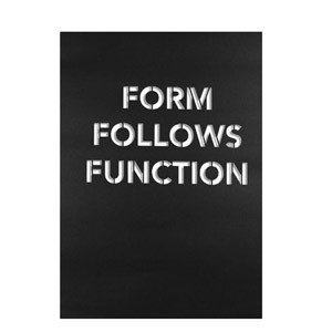 Plakat Form Follows Function