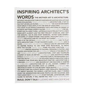 Plakat Inspiring Architects Words