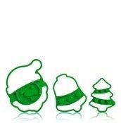 Foremki do ciastek z motywami świątecznymi Cuisipro