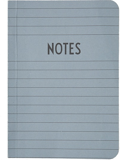 Notes Design Letters A6 szary