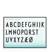 Plakat Arne Jacobsens Vintage ABC