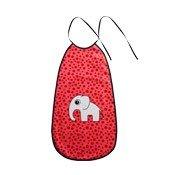 Śliniak dla niemowląt podłużny Dots Done by deer czerwony - małe zdjęcie