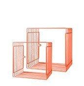Półka Wires kwadratowa 2 szt. pomarańczowa