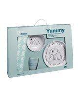 Naczynia dziecięce w zestawie Dots Yummy - zdjęcie 1