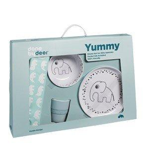 Naczynia dziecięce w zestawie Dots Yummy
