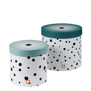 Pudełko do przechowywania okrągłe Done by deer Dots 2 szt.